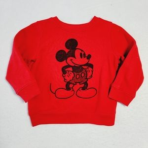 Disney Jumping Beans Mickey Mouse Softest Fleece Pullover Sweatshirt Size 24M